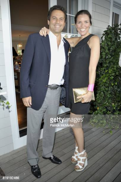Karim Tadeg and Ann Caruso attend QVC Style Initiative Dinner hosted by CEO Mike George at the home of Dennis Basso and partner Michael Cominotto on...