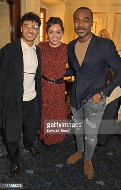"""Karim Zeroual, Amy Dowden and Ore Oduba attend the VIP Gala Night for """"Curtains: A Musical Whodunnit"""" at Wyndham's Theatre on January 8, 2020 in..."""
