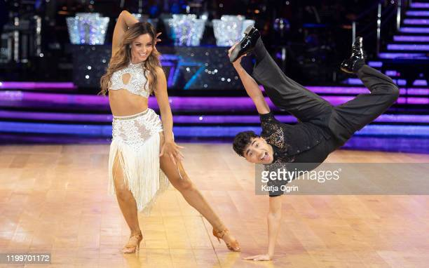 Karim Zeroual and Amy Dowden during the Strictly Come Dancing Arena Tour 2020 photocall at Arena Birmingham on January 15, 2020 in Birmingham,...