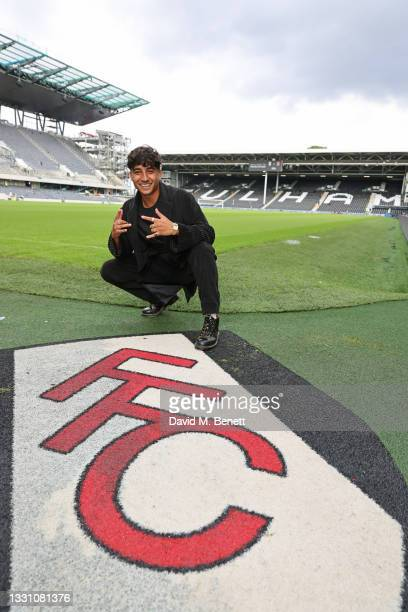 Karim Zeroual attends a brunch to celebrate the partnership between World Mobile and Fulham FC at Craven Cottage on July 28, 2021 in London, England.