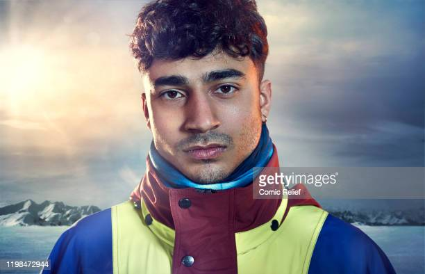 Karim Zeroual poses for a promotional image for Sport Relief On Thin Ice as one of the celebrities preparing to cycle skate and trek 100 miles across...