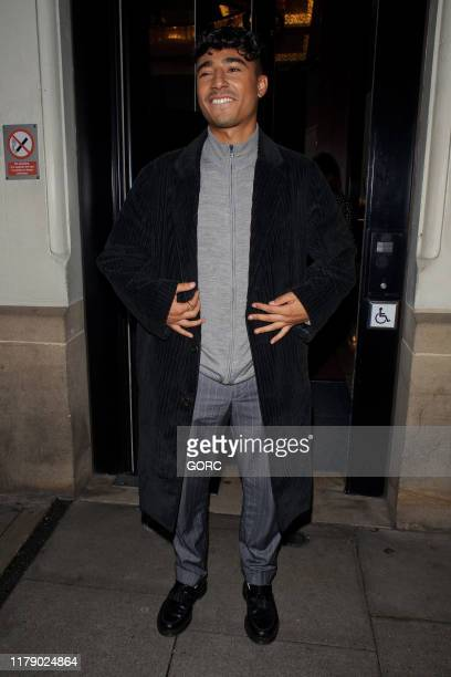Karim Zeroual seen leaving TV studios after recording Strictly It Takes Two on October 04 2019 in London England