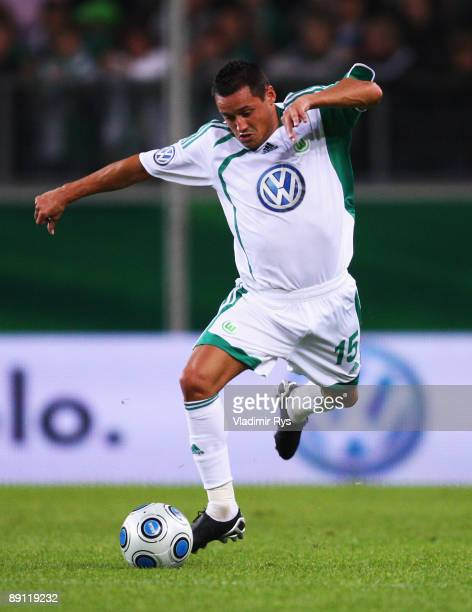 Karim Ziani of Wolfsburg in action during the Volkswagen Supercup final match between VfL Wolfsburg and SV Werder Bremen at Volkswagen Arena on July...