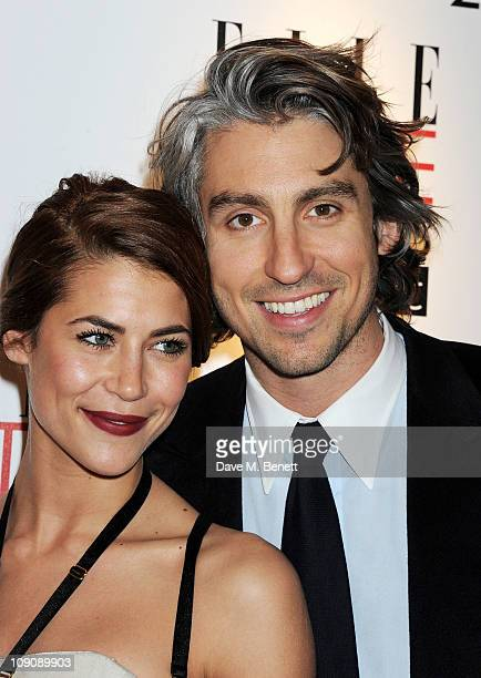 Karima Adebibe and George Lamb arrive at the Elle Style Awards held at the Grand Connaught Rooms on February 14 2011 in London England
