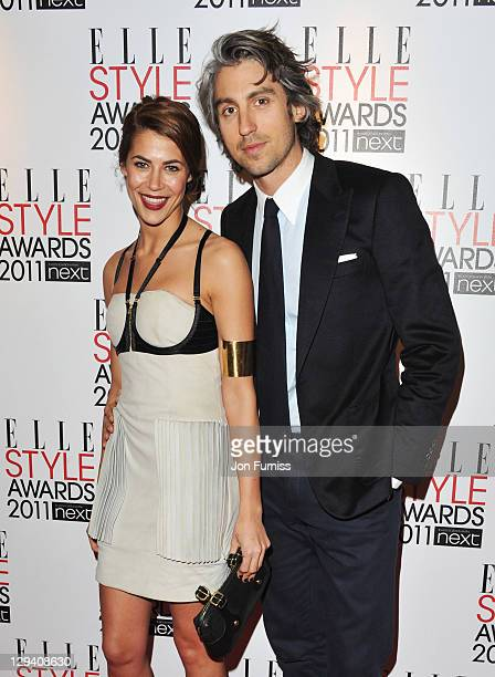 Karima Adebibe and George Lamb arrive for the ELLE Style Awards 2011 at the Grand Connaught Rooms on February 14 2011 in London England