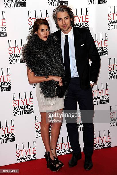 Karima Adebibe and George Lamb attend the 2011 ELLE Style Awards at the Grand Connaught Rooms on February 14 2011 in London England