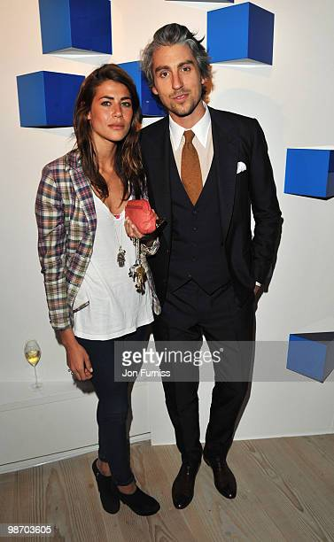 Karima Adebibe and George Lamb attend the launch party for Samsung 3D Television at the Saatchi Gallery on April 27 2010 in London England