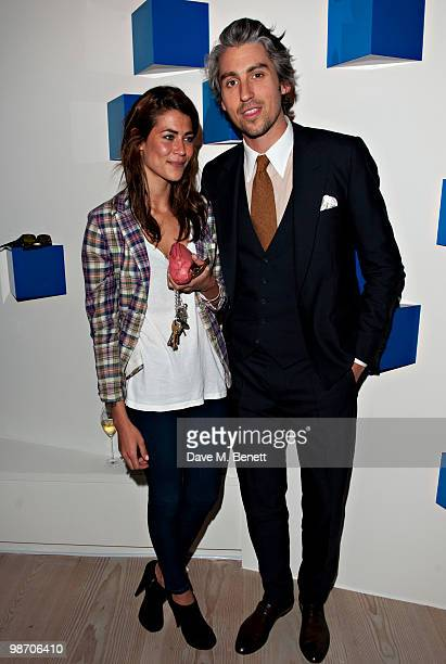 Karima Adebibe and George Lamb attend the Samsung 3D Television party at the Saatchi Gallery on April 27 2010 in London England