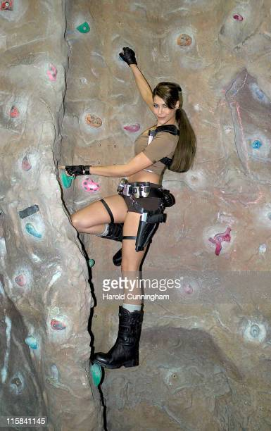 Karima Adebibe during Lara Croft Tomb Raider Legend Photocall at Westway Sports Centre in London Great Britain