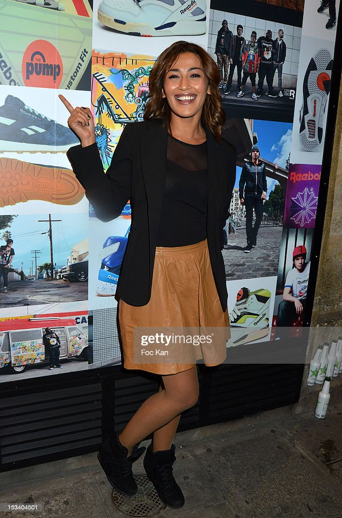 Karima Charni attends the Reebok Ephemeral Beaubourg Flagship Store Opening Party at LÕImprimerie October 4, 2012 in Paris, France.