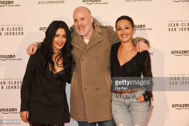 Karima Charni Renaud Corlouer and Hedia Charni attend the Amazon TV Serie 'Jean Claude Van Jonhson' Paris Premiere At Le Grand Rex on December 12...