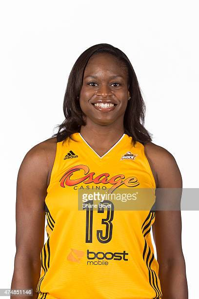 Karima Christmas of the Tulsa Shock poses for portraits during Media Day on May 26 2015 at the BOK Center in Tulsa Oklahoma NOTE TO USER User...