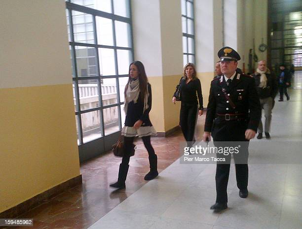 Karima El Mahroug arrives to testify at Silvio Berlusconi trial on January 14 2013 in Milan Italy The Moroccan dancer is the key witness in Silvio...