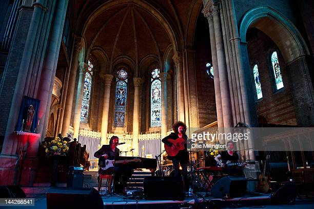 Karima Francis performs on stage at St Mary's Church during the last day of The Great Escape Festival on May 12 2012 in Brighton United Kingdom