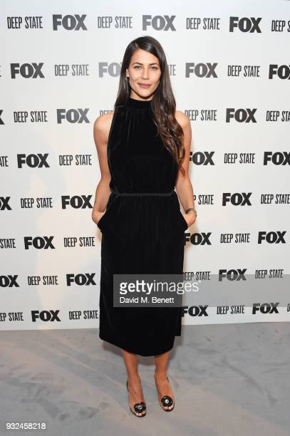 Karima McAdams attends the Global Premiere of Deep State the new espionage thriller from FOX at the Curzon Soho on March 14 2018 in London England