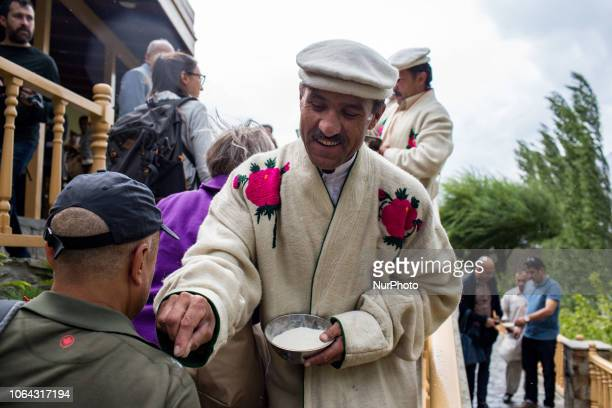 Karimabad, Pakistan, 25 September 2018. Ismailis and Hunza Valley residents welcome tourists to Fort Baltit.