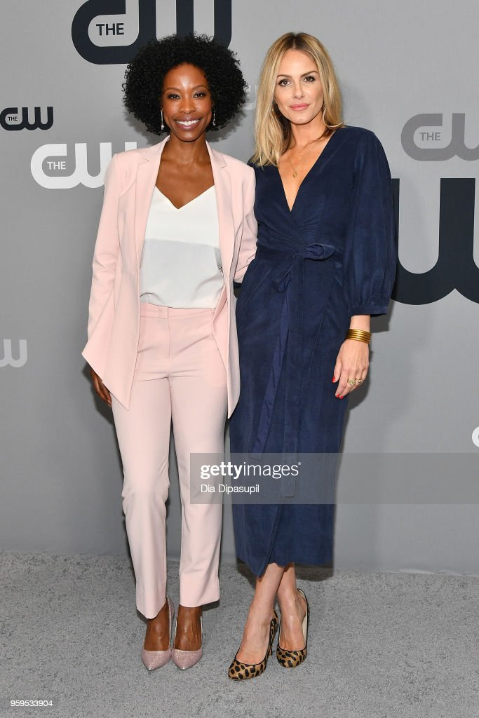 Karimah Westbrook and Monet Mazur attend the 2018 CW Network Upfront at The London Hotel on May 17, 2018 in New York City.