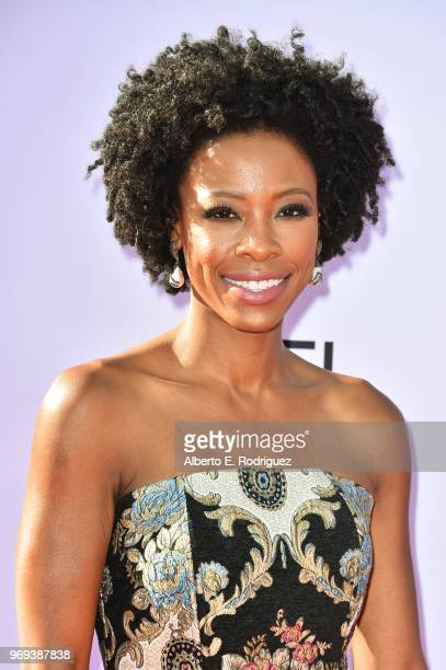 Karimah Westbrook attends American Film Institute's 46th Life Achievement Award Gala Tribute to George Clooney at Dolby Theatre on June 7 2018 in...