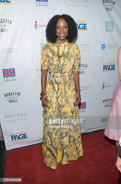 Karimah Westbrook attends #SeeHER And Celebrity Page's Emmy Party at Sofitel Los Angeles At Beverly Hills on September 15 2018 in Los Angeles...