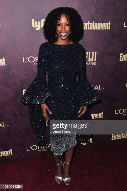 Karimah Westbrook attends the 2018 Entertainment Weekly PreEmmy Party at Sunset Tower Hotel on September 15 2018 in West Hollywood California