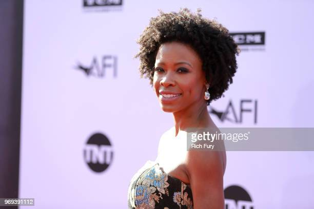 Karimah Westbrook attends the American Film Institute's 46th Life Achievement Award Gala Tribute to George Clooney at Dolby Theatre on June 7 2018 in...