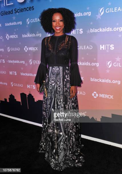 Karimah Westbrook attends the Black AIDS Institute's 2018 Heroes in The Struggle Gala at California African American Museum on December 01 2018 in...