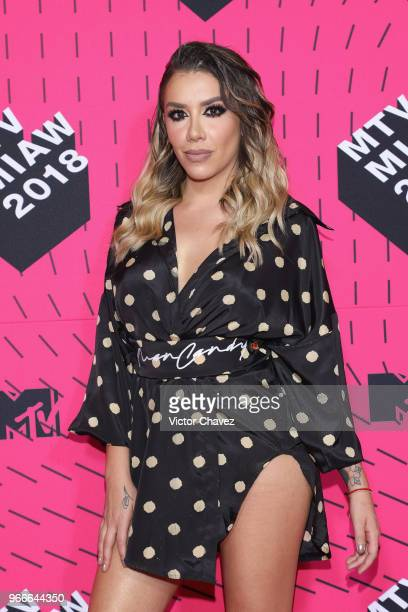 Karime Pindter of Acapulco Shore attend the MTV MIAW Awards 2018 at Arena Ciudad de Mexico on June 2 2018 in Mexico City Mexico