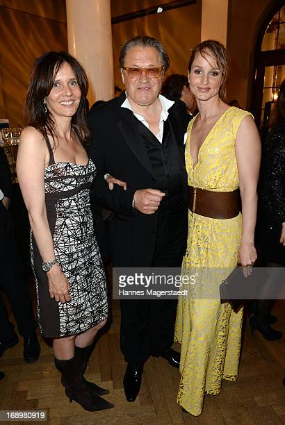 Karin and Michael Brandner and LaraJoy Koerner attend the 'Bayerischer Fernsehpreis 2013' at Prinzregententheater on May 17 2013 in Munich Germany