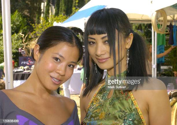 Karin Anna Cheung and Bai Ling during Silver Spoon Hollywood Buffet Day Two at Private Estate in Los Angeles California United States Photo by Mark...