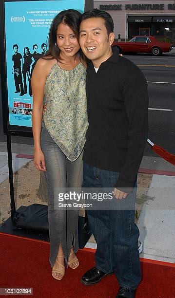 Karin Anna Cheung and Director Justin Lin during 'Better Luck Tomorrow' Los Angeles Premiere at Landmark Cecchi Gori Fine Arts Theater in Beverly...