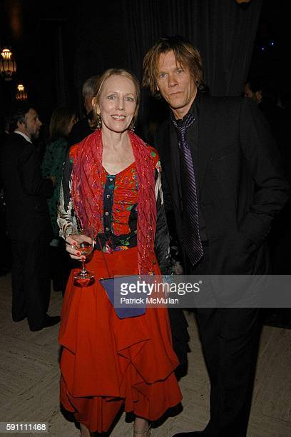 Karin Bacon and Kevin Bacon attend Vanity Fair hosts their Tribeca Film Festival dinner at The State Supreme Courthouse on April 20 2005 in New York...
