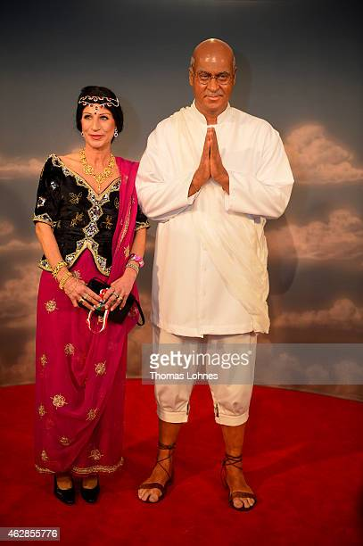 Karin BaumuellerSoeder and Bavarian finance minister Markus Soeder pose in a 'Gandhi' carnival costume while attending the annual 'Fastnacht in...