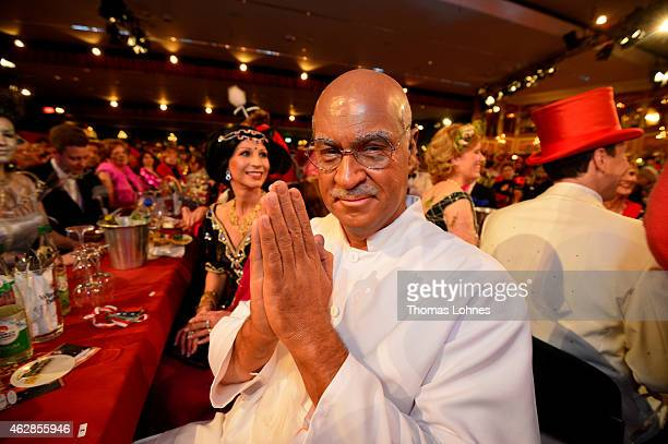 Karin BaumuellerSoeder and Bavarian finance minister Markus Soeder pose with a 'Gandhi' carnival costume while attending the annual 'Fastnacht in...