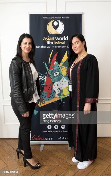 Karin Behr and Majia Khaan attend a reception as Angelina Jolie Accepts the Rising Star Award on behalf of 'First They Killed My Father' actress...