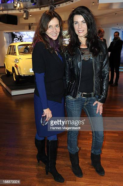 Karin Brandner and actress Nicola Tiggeler attend the BMW Adventskalender opening with Anja Kruse at the BMW Pavillon on December 14 2012 in Munich...