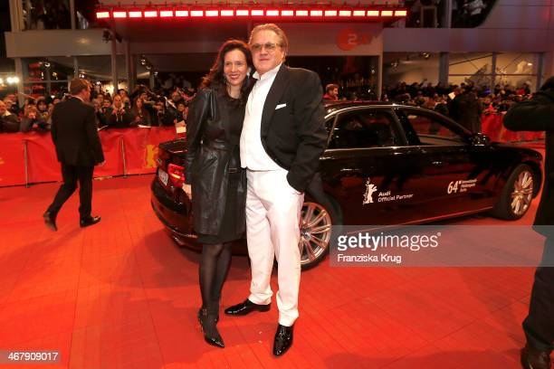 Karin Brandner and Michael Brandner attend 'The Monuments Men' Premiere during The 64th Berlinale International Film Festival at Berlinale Palast on...