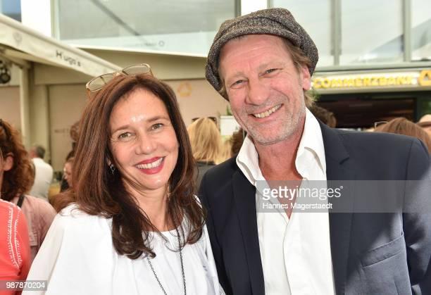 Karin Brandner and Michael von Au attend the 'Sommerfest der Agenturen' during Munich Film Festival 2018 at Hugo's on June 30 2018 in Munich Germany