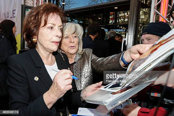 Karin Dor and Margarethe von Trotta attend 'The Misplaced World' Premiere AUDI At The 65th Berlinale International Film Festival on February 12 2015...