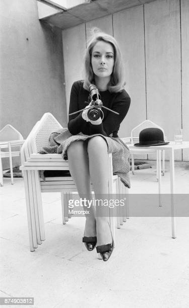 Karin Dor German actress in the UK to film scenes for new James Bond film You Only Live Twice she plays Spectre agent Helga Brandt pictured at the...