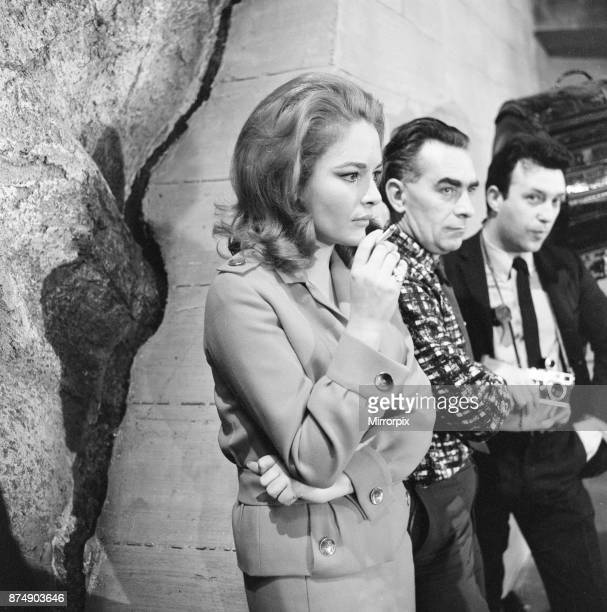 Karin Dor German actress on the set of new James Bond film You Only Live Twice she plays Spectre agent Helga Brandt pictured at Pinewood Studios...
