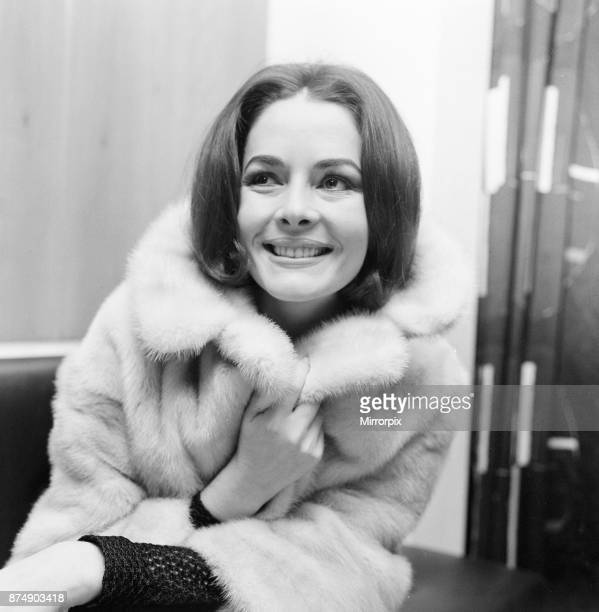 Karin Dor German actress pictured in her hotel suite London Tuesday 16th November 1965 Karin is in the UK to film background scenes for Der...