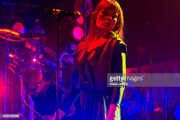 Karin Dreijer Andersson of The Knife performs on stage at Brixton Academy on November 6 2014 in London United Kingdom