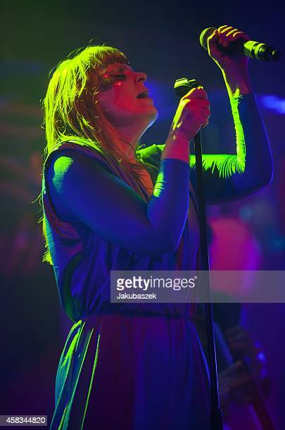Karin Dreijer Andersson of the Swedish band The Knife performs live during a concert at the Arena on November 3 2014 in Berlin Germany