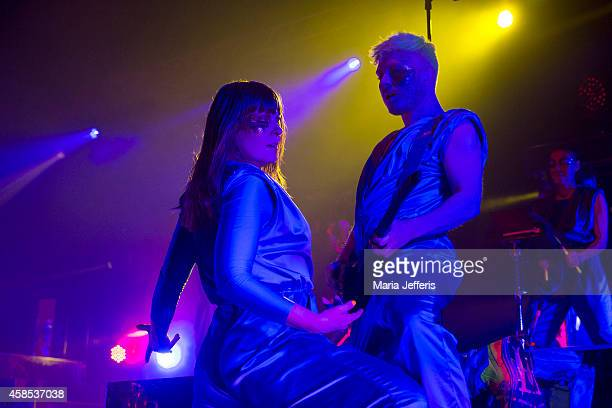 Karin Dreijer Anderssonof The Knife performs on stage at Brixton Academy on November 6 2014 in London United Kingdom