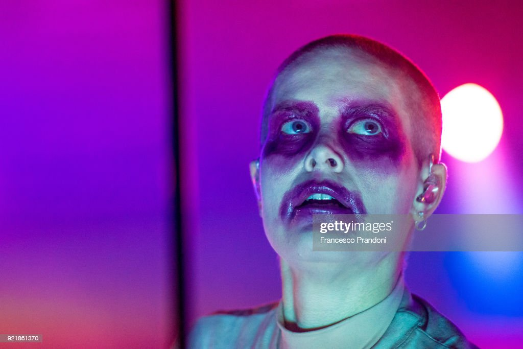 Karin Elisabeth Dreijer Andersson AKA Fever Ray perform on stage at Fabrique on February 20, 2018 in Milan, Italy.