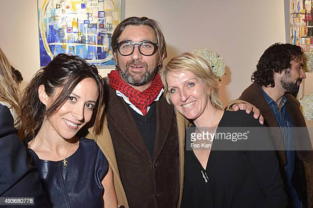 Karin Fredman Christophe Goutal and Fabienne Carat attend the Cocktail Orange during the FIAC 2015 International Contemporary Art Fair At Grand...