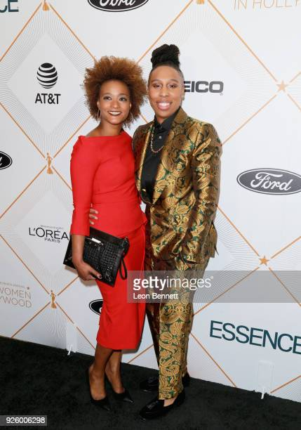 Karin Gist and Lena Waithe attend the 2018 Essence Black Women In Hollywood Oscars Luncheon at Regent Beverly Wilshire Hotel on March 1 2018 in...