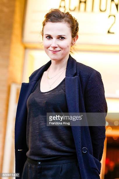 Karin Hanczewski attends the 'Mann im Spagat Pace Cowboy Pace' premiere at Kino International on April 13 2016 in Berlin Germany