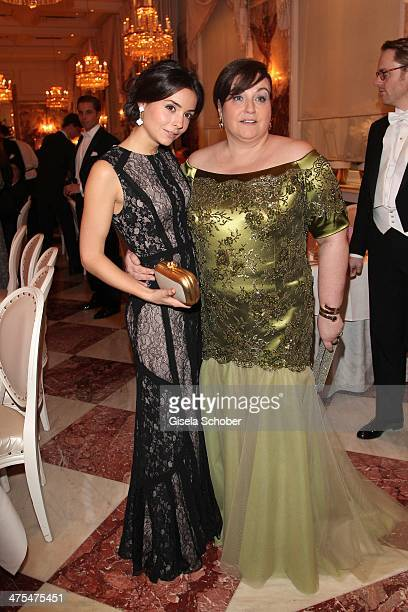 Karin Holler and daughter Lisa attend the traditional Vienna Opera Ball at Vienna State Opera on February 27 2014 in Vienna Austria