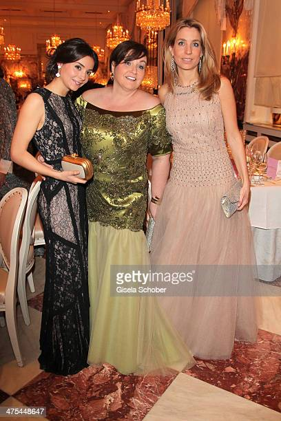 Karin Holler and daughters Lisa and Sophie attend the traditional Vienna Opera Ball at Vienna State Opera on February 27 2014 in Vienna Austria